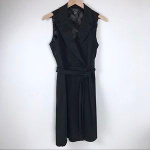 Spense Faux Wrap  black dress women's 12